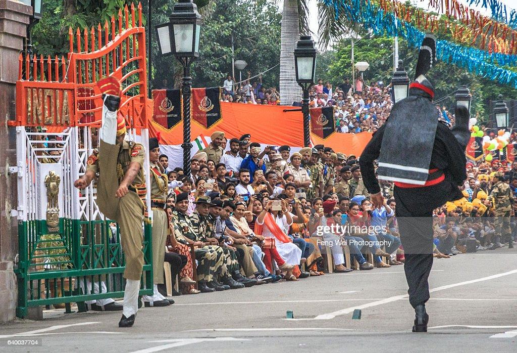 `High Kick Contest` @ Wagah Border Ceremony, Punjab, Pakistan, August 2015
