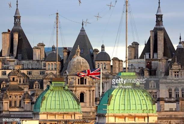High level view over Horse Guards Parade London with Union Jack flag Architectural Stock Various United Kingdom Architect n/a 2016