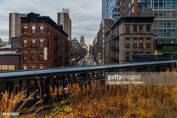 High Line Park in winter, New York
