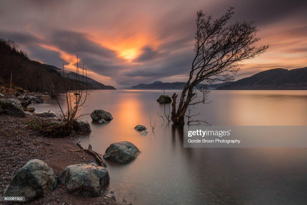 A High Loch Ness. : Stock Photo