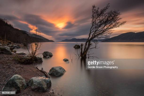 a high loch ness. - loch ness stock photos and pictures