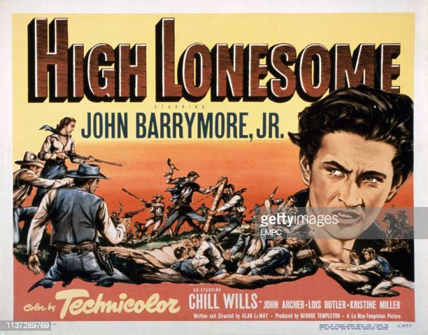 High Lonesome poster John Drew Barrymore 1950