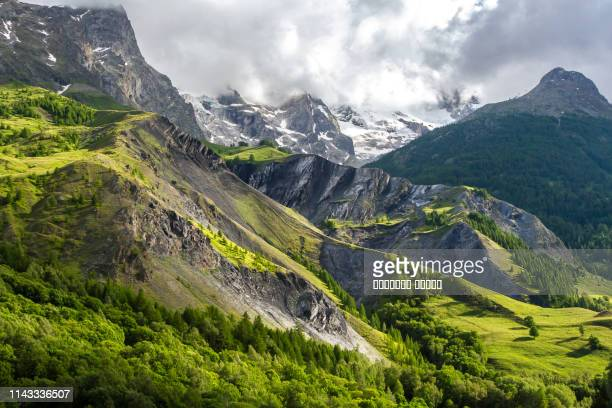 High Mountain French Alp village of La Grave in summer