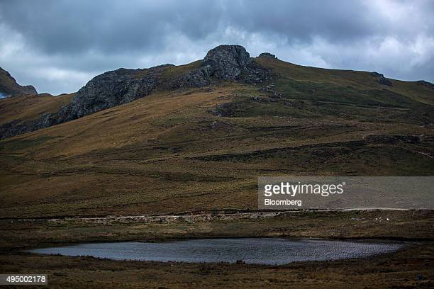 A high mountain lagoon sits near Cajamarca Peru Tuesday Oct 2015 Local environmentalists claim the nearby Yanacocha mine diverts and pollutes much of...
