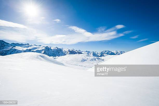 High Mountain Landscape in Sunny Day