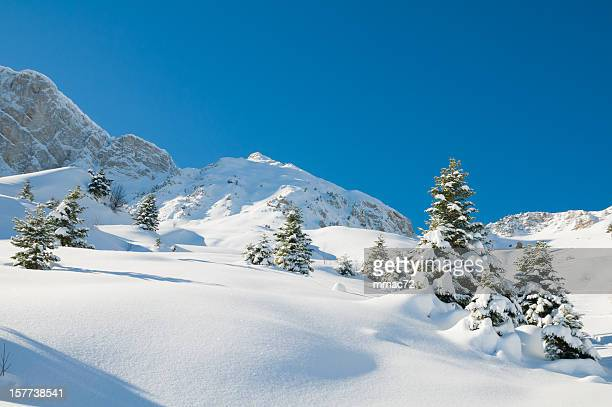 high mountain landscape in sunny day - grenoble stock pictures, royalty-free photos & images