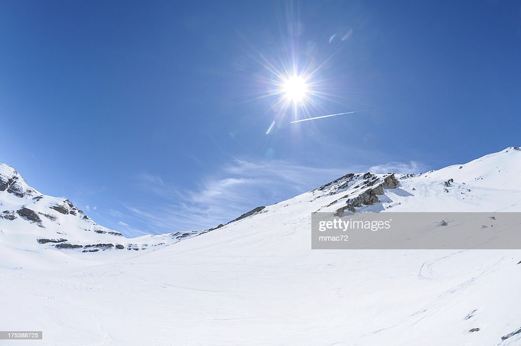 High Mountain Landscape in Sunny Day : Stock Photo