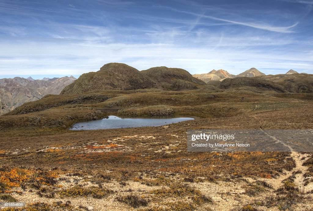 High Mountain Pond on Continental Divide : Stock Photo