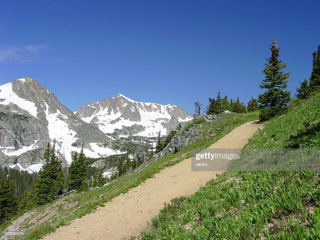 high mountain trail : Stock Photo