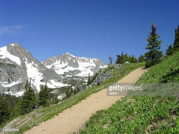 high mountain trail