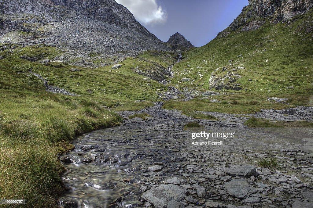 High mountain water : Foto stock