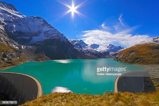 High mountains water-reservoir, Austria