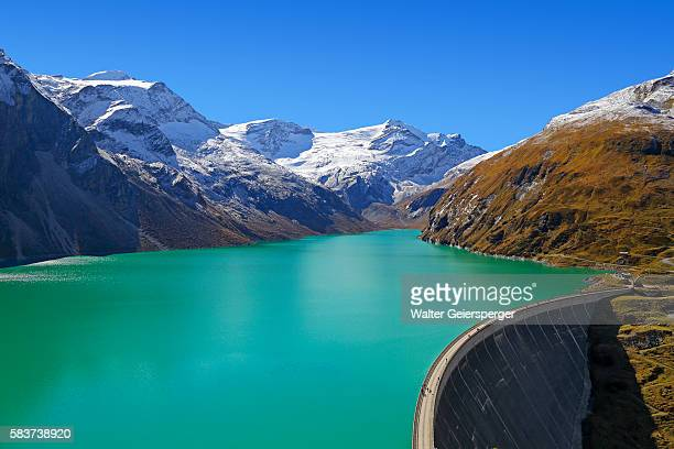 high mountains water-reservoir, austria - reservoir stock pictures, royalty-free photos & images