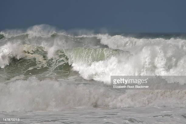 High ocean surf