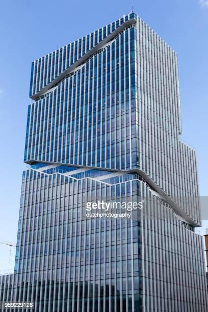 Hoge kantoorgebouwen op de Zuidas in Amsterdam-Zuid, Nederland.