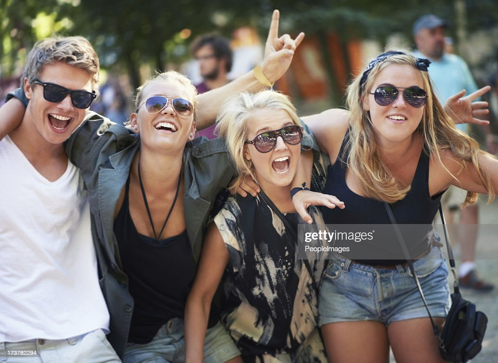 High on music and life! : Stock Photo