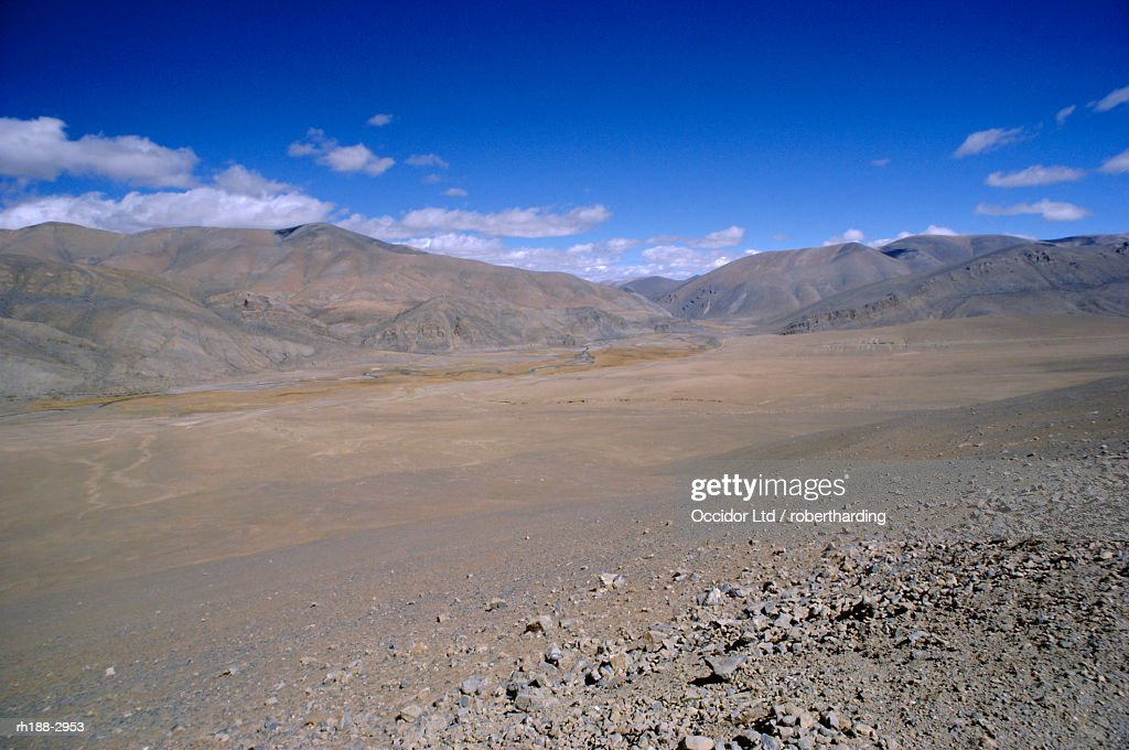 High plateau south of Dinggye, Tibet, China, Asia : Stockfoto
