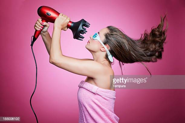 High power blow dryer and goggles.