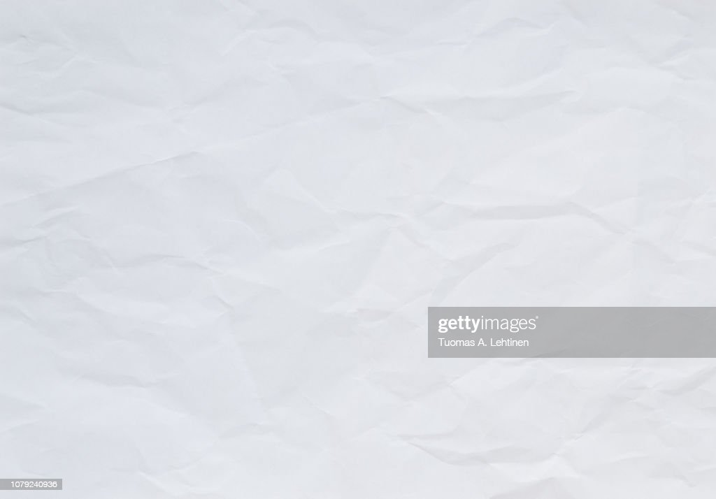 High quality crumpled white and blank paper sheet texture background. : Stock-Foto