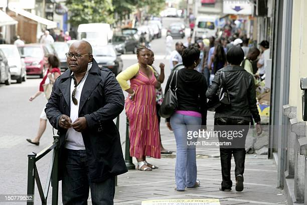 BELGIUM BRUSSELS high ratio of coloured immigrants in Brussels