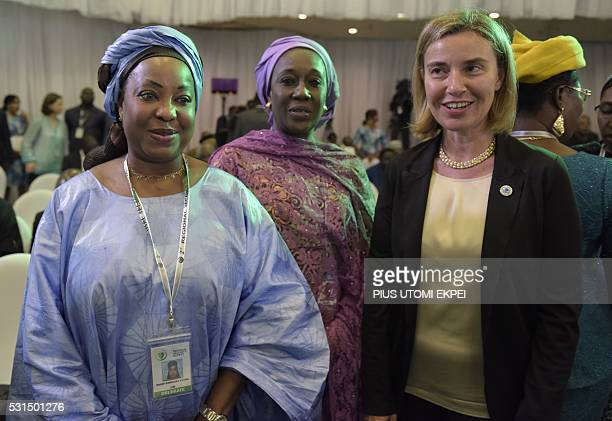 EU High Representative and Vice President for Foreign Affairs and Vice President for Foreign Affairs and Security Policy Federica Mogherini poses...