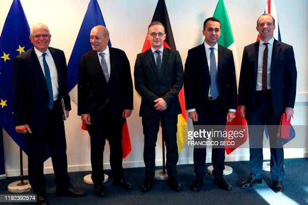 High Representative for Foreign Affairs and Security Policy Josep Borrell, French Foreign Affairs Minister Jean-Yves Le Drian, German Foreign Affairs...