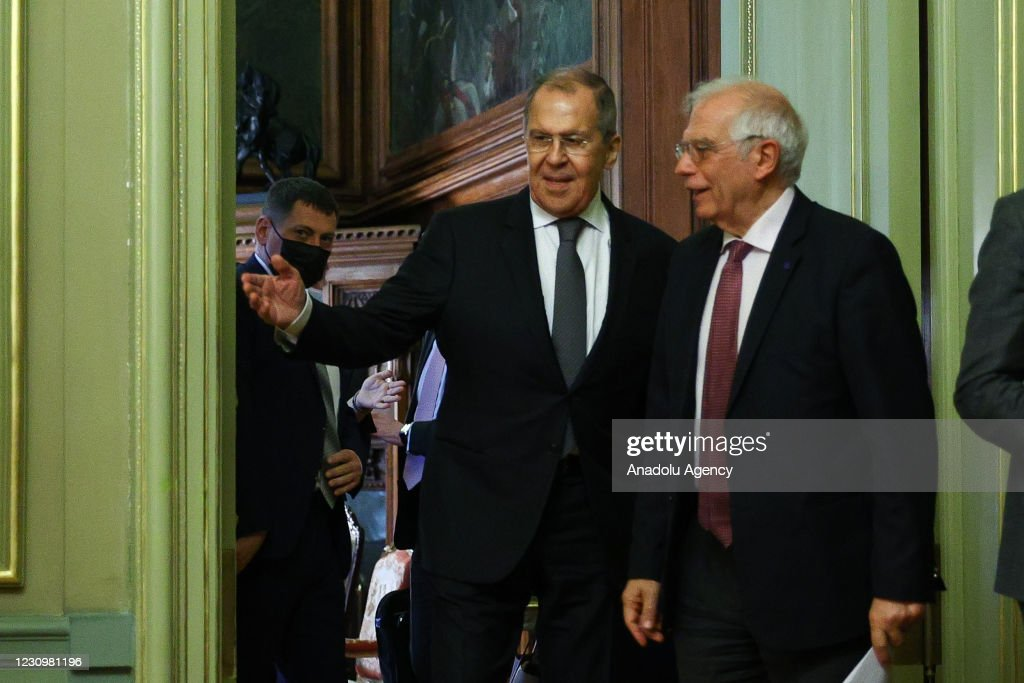 Sergey Lavrov - Josep Borrell press conference in Moscow : News Photo