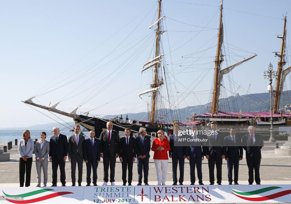 ITALY-POLITICS-SUMMIT-WESTERN-BALKANS : News Photo