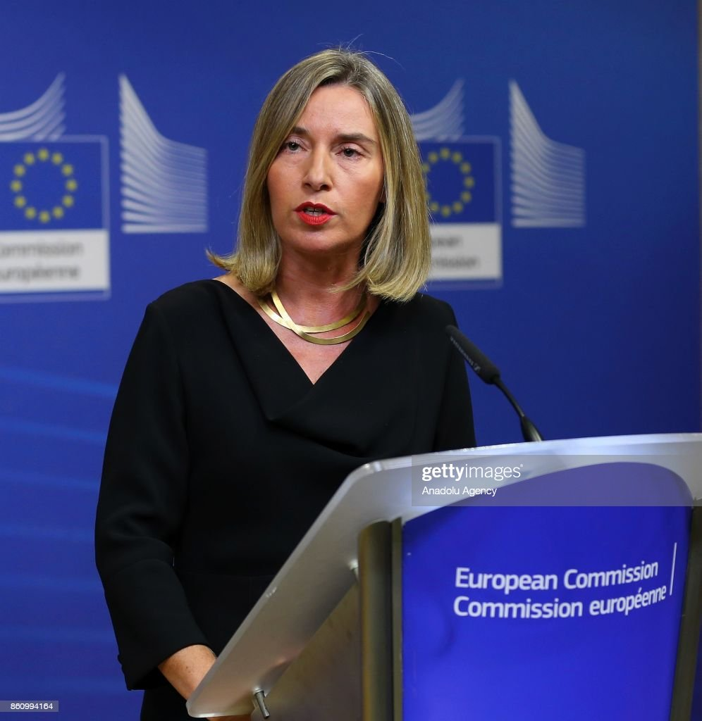 Federica Mogherini's press conference in Brussels : News Photo