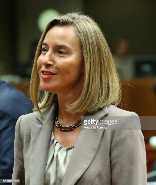 High Representative of the European Union for Foreign Affairs and Security Policy Federica Mogherini attend the European Council Meeting at the...