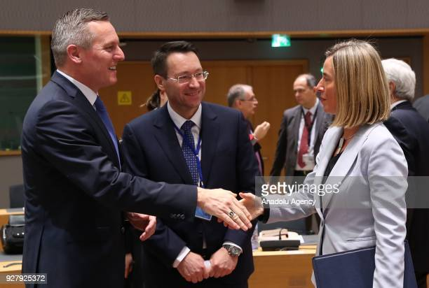 High Representative of the European Union for Foreign Affairs and Security Policy Federica Mogherini attends EU Defense ministers meeting in Brussels...