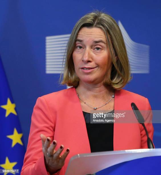 High Representative of the European Union for Foreign Affairs and Security Policy Federica Mogherini and Norwegian Foreign Minister Ine Marie Eriksen...