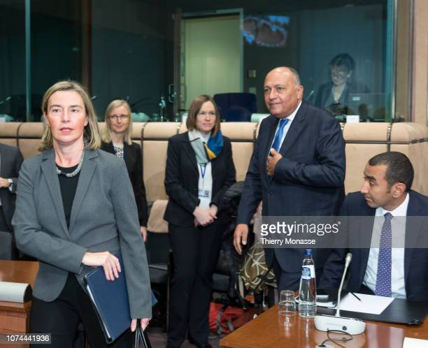 High Representative of the Union for Foreign Affairs and Security Policy / Vice-President of the Commission Federica Mogherini welcomes the Egyptian...