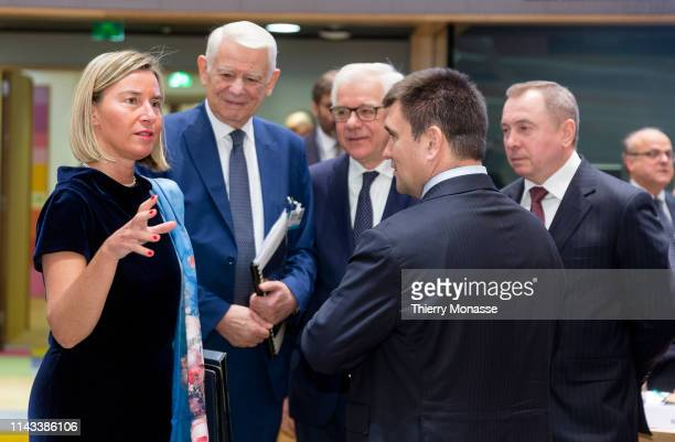 EU High Representative of the Union for Foreign Affairs and Security Policy / VicePresident of the Commission Federica Mogherini is talking with the...