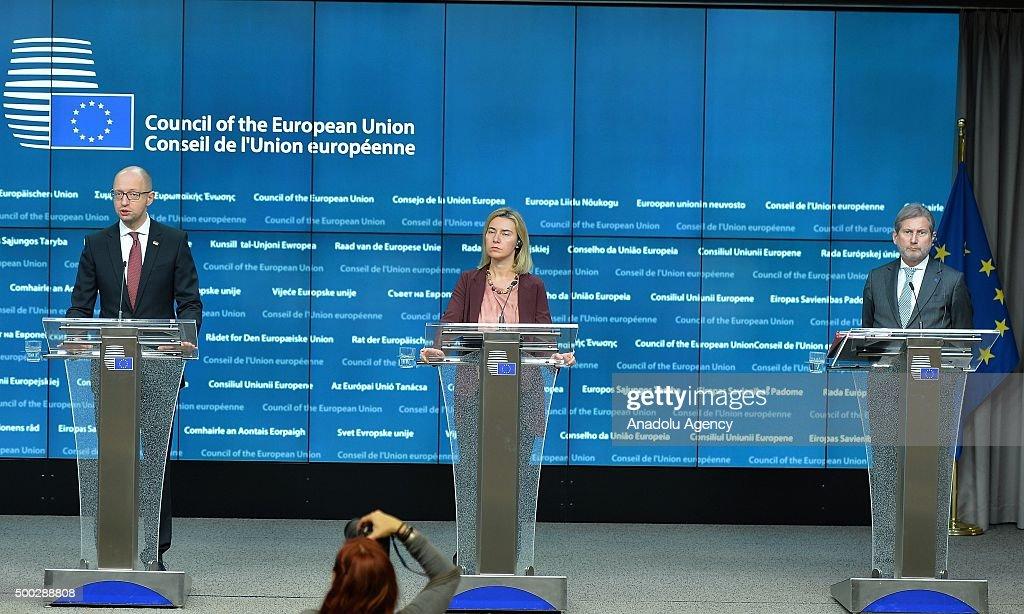EU-Ukraine Association Council meeting : News Photo