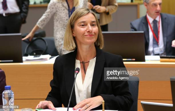 High Representative of the Union for Foreign Affairs and Security Policy Federica Mogherini attends the EU Foreign Affairs Ministers meeting at the...