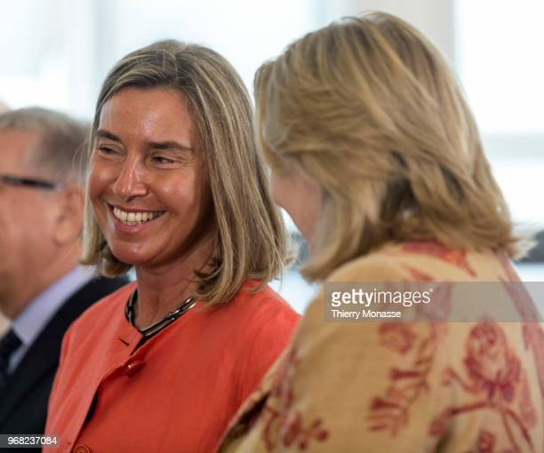 High Representative of the Union for Foreign Affairs and Security Policy / VicePresident of the Commission Federica Mogherini talks with the Austrian...