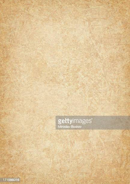 high resolution animal skin parchment (vellum) vignetted grunge texture - old parchment background burnt stock photos and pictures