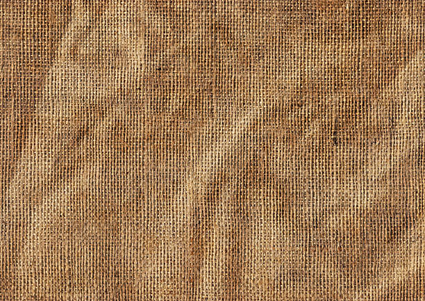 Hessian Sack Background High Resolution Antique Jute Canvas Wrinkled Grunge Texture