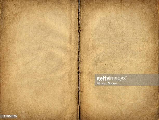 high resolution antique manuscript blank parchment pages - manuscript stock pictures, royalty-free photos & images