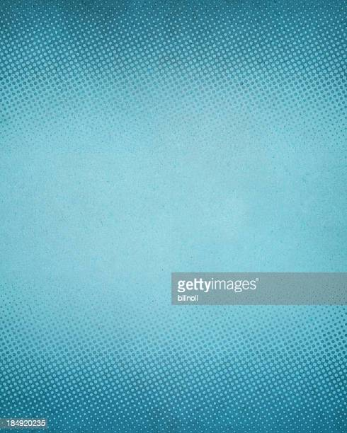 High resolution blue antique paper with halftone