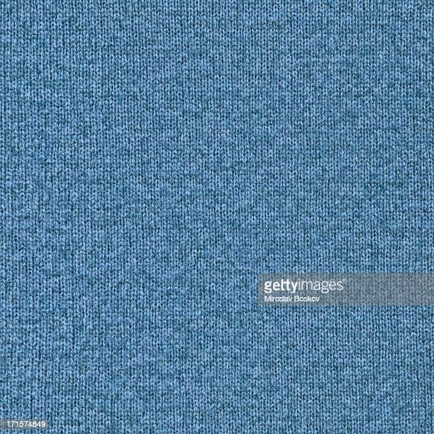 High Resolution Blue Woolen Woven Fabric Texture Sample