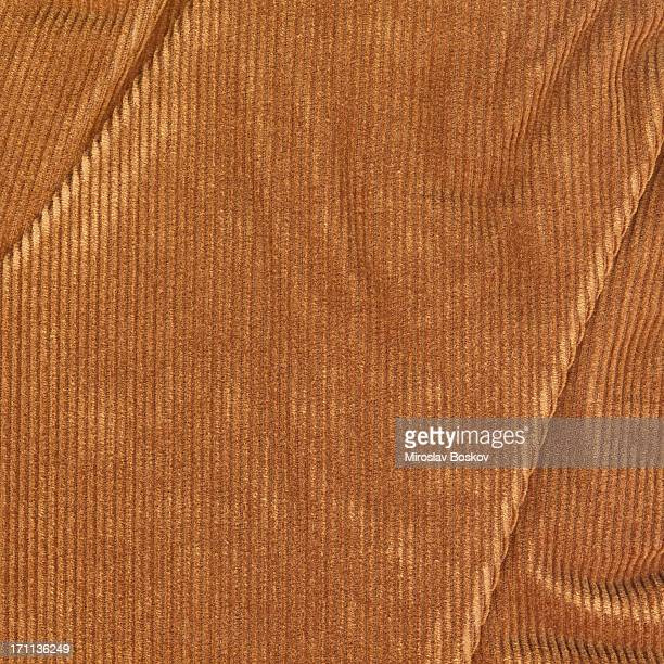 high resolution brown corduroy wrinkled texture sample - velvet stock pictures, royalty-free photos & images