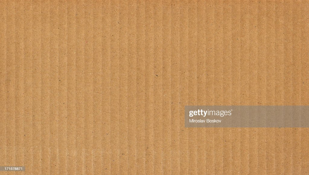 High Resolution Cardboard Brown Corrugated Texture : Stock Photo