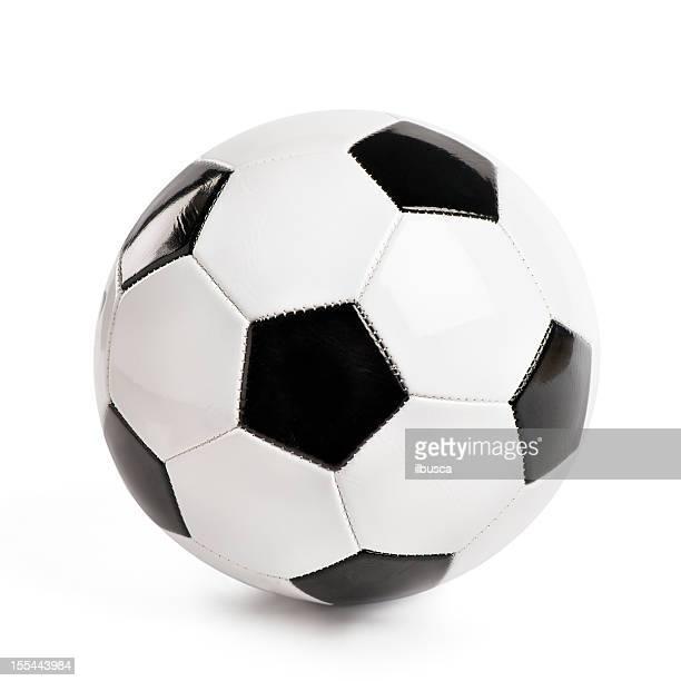 Hohe Auflösung klassische Fußball isoliert auf weißem Hintergrund