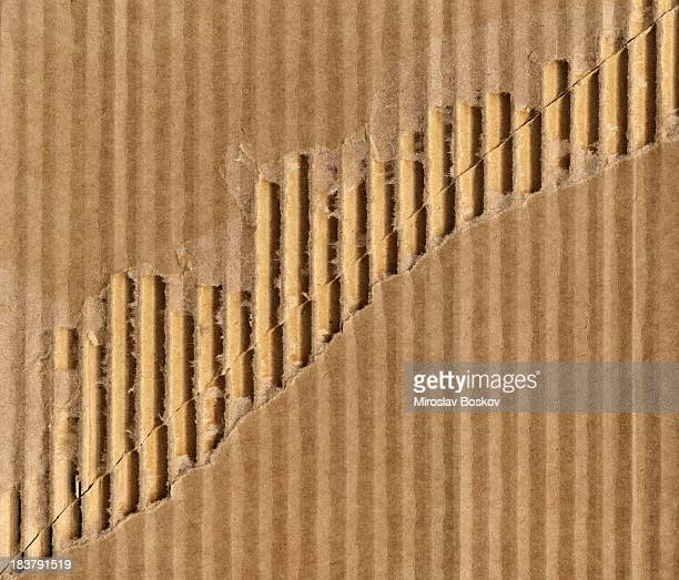 High Resolution Corrugated Cardboard Cut And Torn Grunge Texture