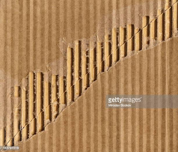 Alta resolução Papelão Corrugado Cortado ou Rasgado textura de