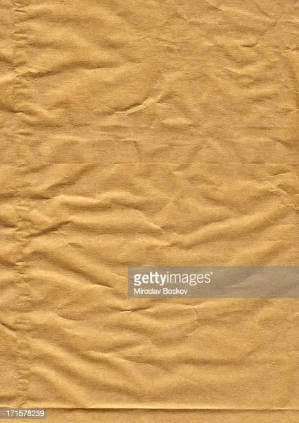Haute résolution arrière-plan de Papier froissé brown