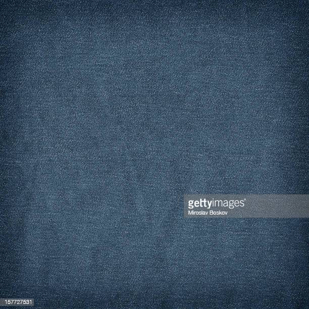 High Resolution Deep Blue Denim Crumpled Grunge Texture Sample