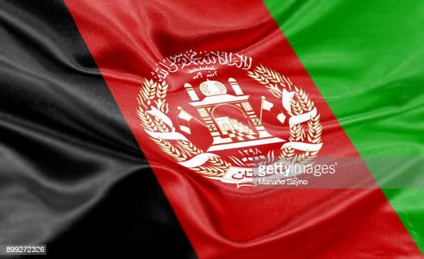high resolution digital render of afghanistan flag - afghanistan photos et images de collection